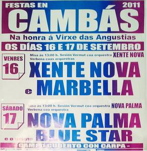 FESTAS EN CAMBÁS (ARANGA) NA HONRA A VIRXEN DAS ANGUSTIAS