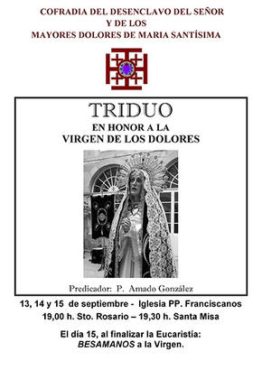 TRIDUO en honor a la Virgen de los Dolores, 2013
