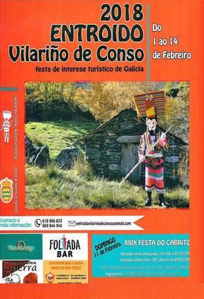 ENTROIDO EN VILARIÑO DE CONSO, FESTA DO CABRITO E MASCARADA