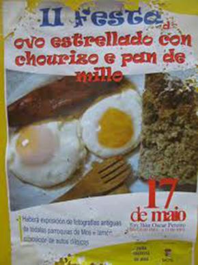 Festa do ovo estrellado con chourizo e pan de millo